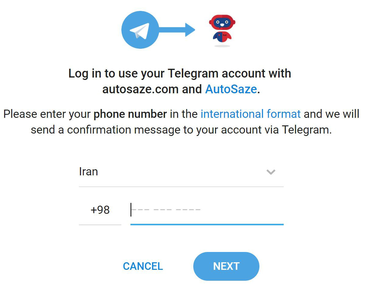confirm phone telegram